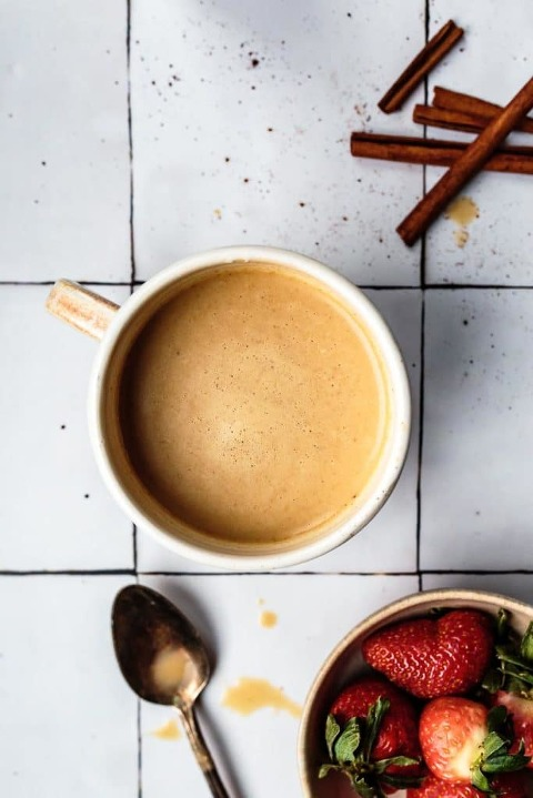 cinnamon vanilla cordyceps latte
