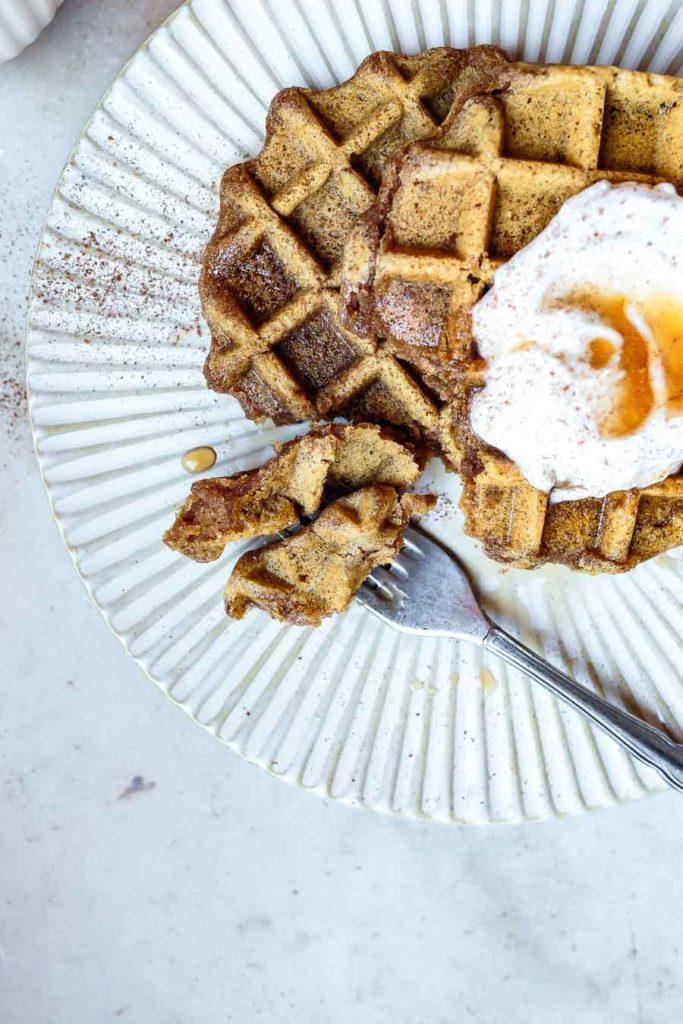 AIP Paleo Waffles (egg-free, nut-free, vegan) with coconut yogurt