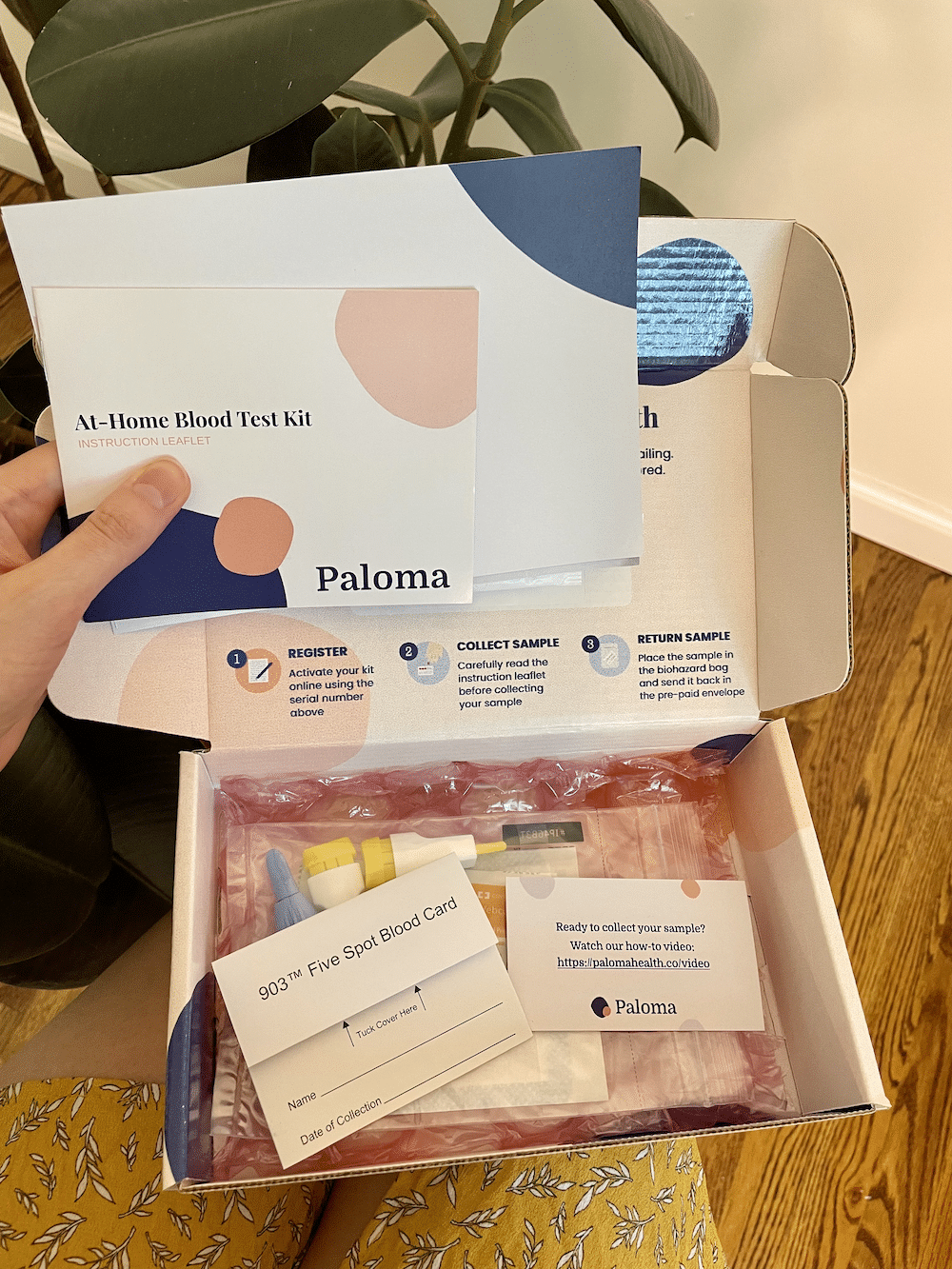 showing inside of a Paloma thyroid test kit