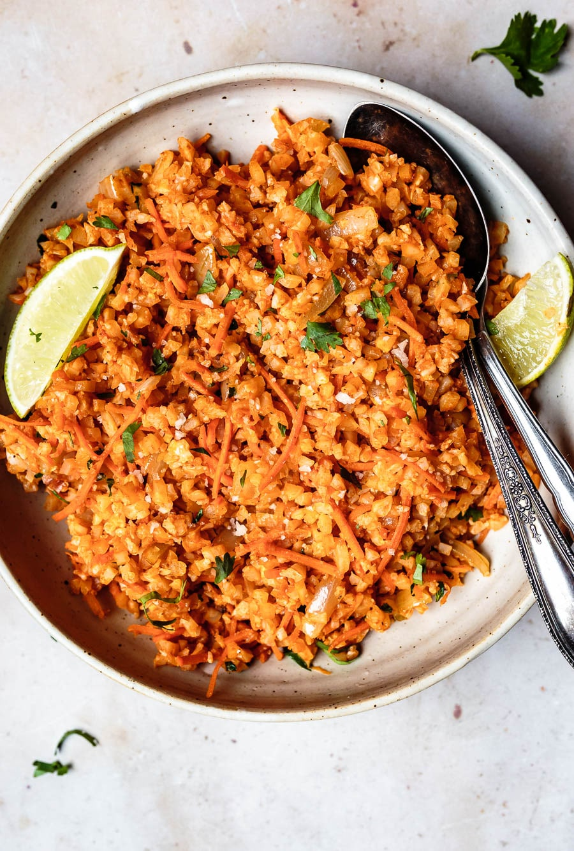 How To Make Spanish Cauliflower Rice recipe
